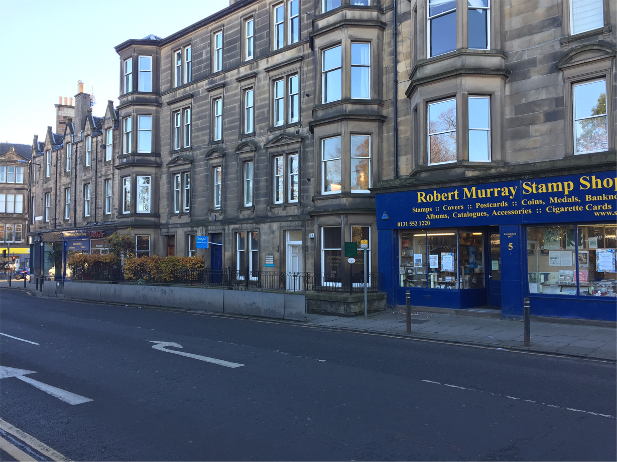 dentist in edinburgh our location